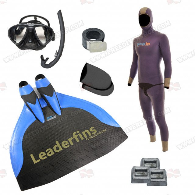 Freediving Monofin Pro Carbon Bundle
