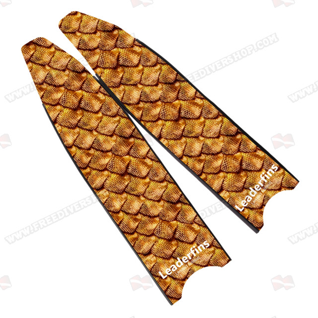 Leaderfins Gold Reptile Skin Blades - Limited Edition