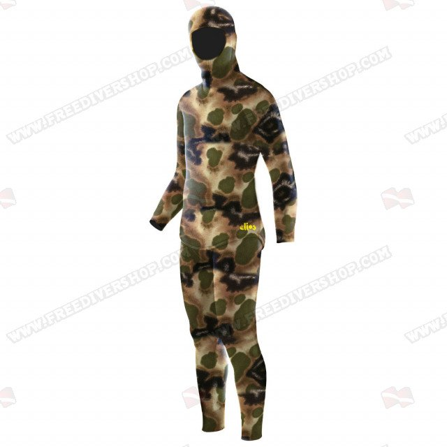 Elios Classic Brown Hydro Camouflage - Tailor Made Wetsuit