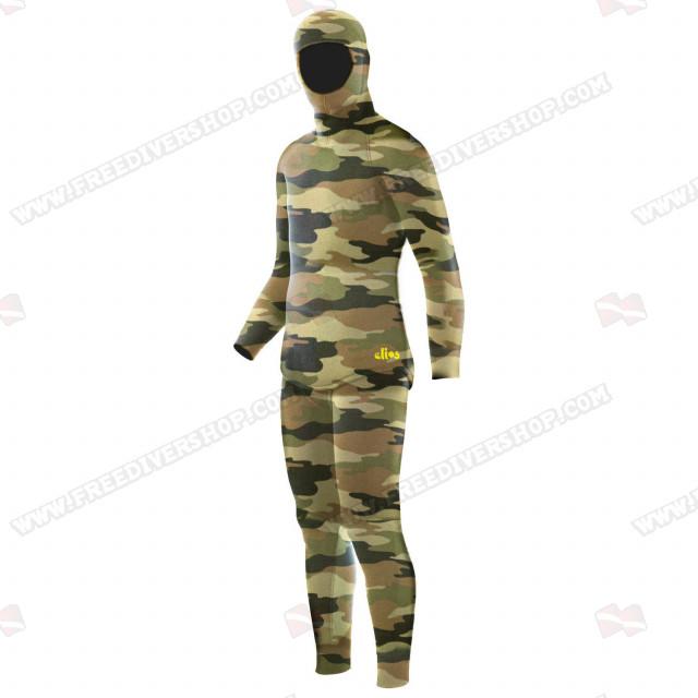 Elios Shaca / Marrone Camouflage - Tailor Made Wetsuit