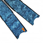 Leaderfins Blue Camouflage Flossen Blätter