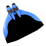Leaderfins Hyper Professional Monofin + Socks / 5 Pcs Lot