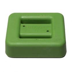 2 kg / 4.4 lbs Green Rubber Coated Belt Weight