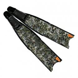 Leaderfins Green Camo Fins + Fins Box