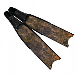 Leaderfins Wave Camo Black Fins + Fins Box