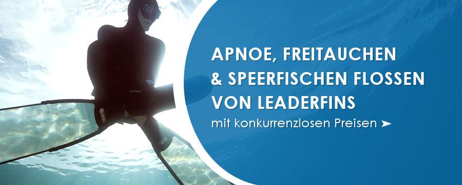 Apnoe, Freitauchen und Speerfischen Flossen von Leaderfins
