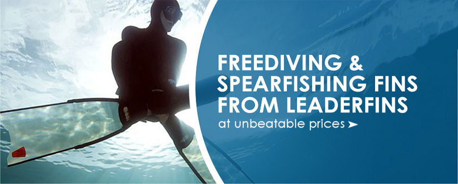 Freediving and spearfishing fins from leaderfins at unbeatable prices